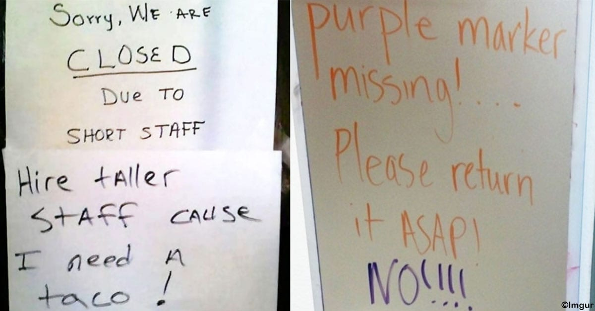 20 Hilarious Responses to Public Notes