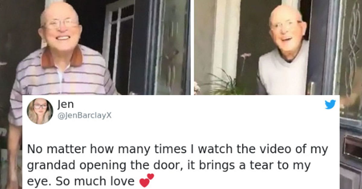 This Grandfather's Reactions Every Time His Granddaughter Visits Are Pure Joy