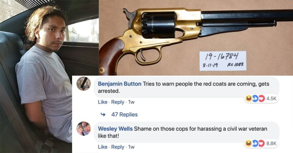 Gangster Gets Arrested Carrying a Gun from 1858, and the Internet Can't Stop Laughing