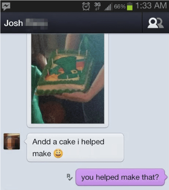 This Conversation About Cake Decorating, Lies & Impressing