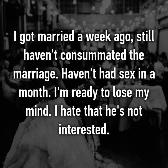 Consummated marriage not Consummation of